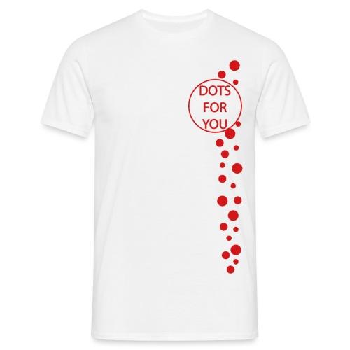 Falling Dots LOGO - Männer T-Shirt