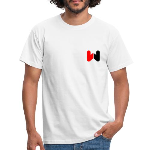 W (Black / Red Logo) - Men's T-Shirt