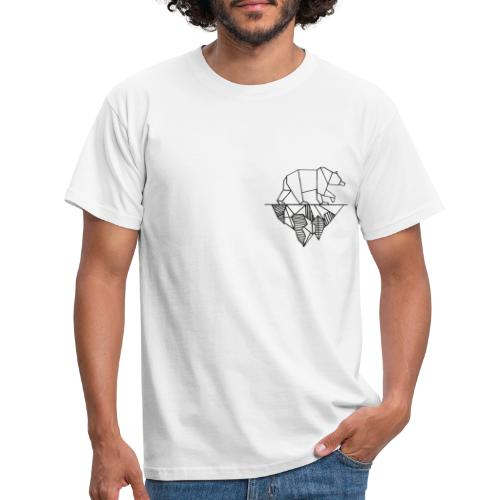 Bear and Mountain - Männer T-Shirt