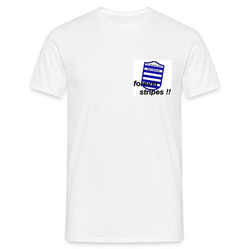blauwwitadamstripes - Mannen T-shirt