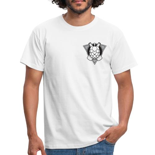 Mighty Hops Logo Black and white - T-shirt herr