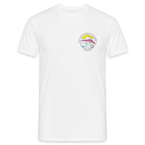 logo dgffn hg weiss transparent - Männer T-Shirt