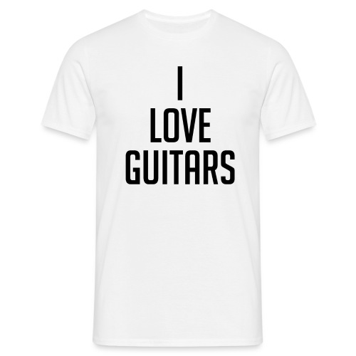 I Love Guitars - Men's T-Shirt