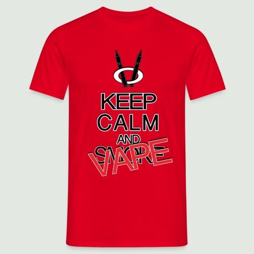 keep calm and vape - T-shirt Homme