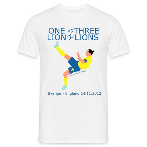 One Lion vs Three Lions - Herre-T-shirt