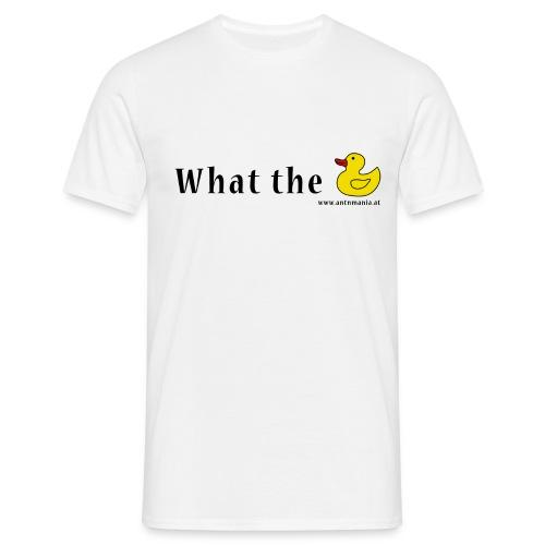 Whattheduck png - Männer T-Shirt
