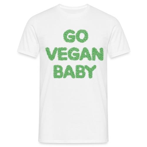 go vegan baby - Herre-T-shirt