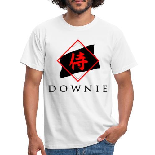 Logo mit Schrift - Männer T-Shirt