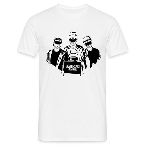 colour crew logo black 11000x9500px png - Männer T-Shirt