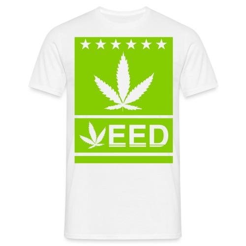 Weed flat - Männer T-Shirt