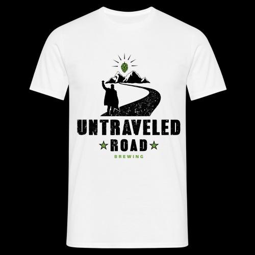 Untraveled Road Logo - schwarz/grün - Männer T-Shirt