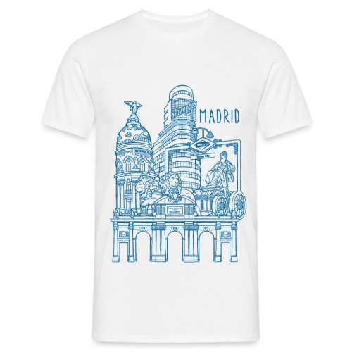 MADRID COLLAGE AZUL - Camiseta hombre