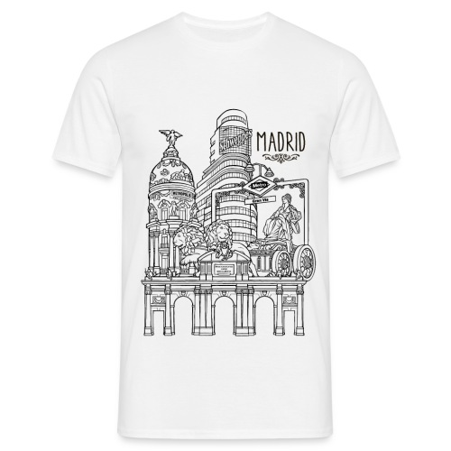 MADRID COLLAGE NEGRO - Camiseta hombre