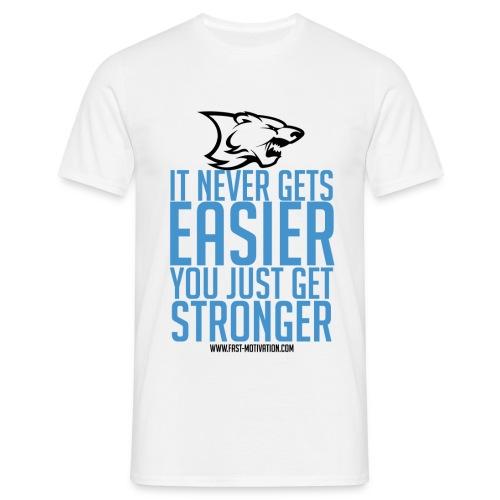 stronger blue blacklogo png - T-shirt Homme