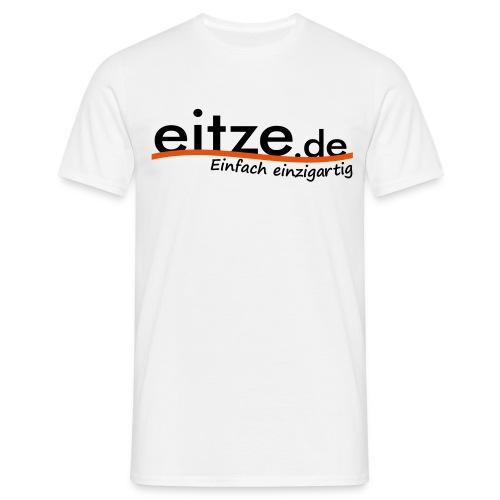 eitze.de Logo schwarz - Männer T-Shirt