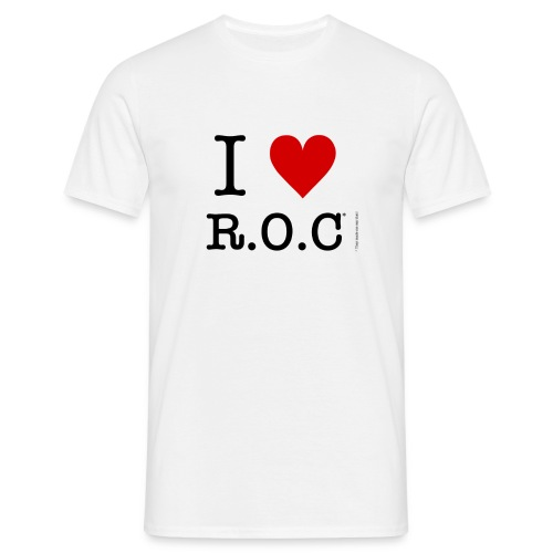 i lov roc tshirt png - Men's T-Shirt