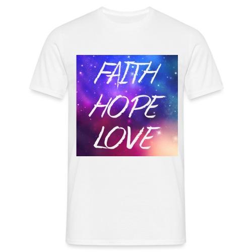Faith Hope Love Galaxy - Männer T-Shirt