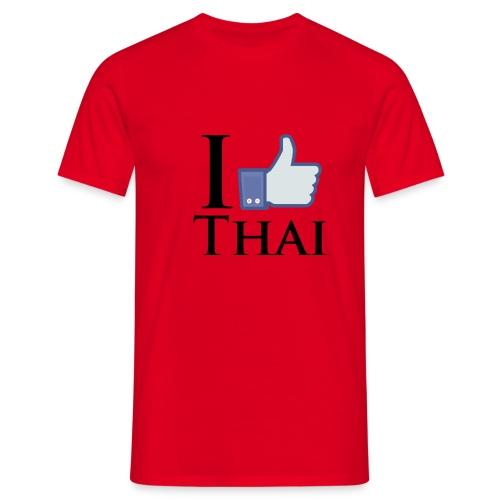 I Like Thai Weiss - Männer T-Shirt