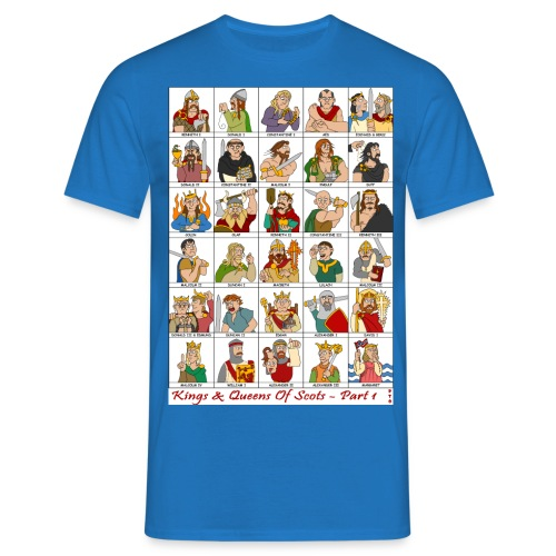 The Kings & Queens of Scotland (Double Sided) - Men's T-Shirt