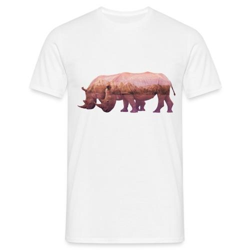 Nashorn Alpen - Männer T-Shirt