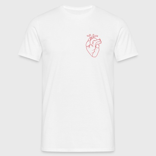 HerzRot-10 - Männer T-Shirt
