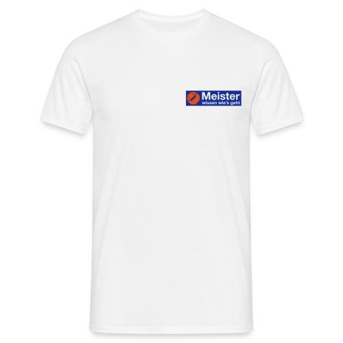 logo meister plott 110mm - Männer T-Shirt