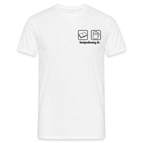 Kneipenlesung Logo schwarz mit URL - Männer T-Shirt