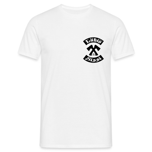 Lähiösissi - musta printti - Miesten t-paita