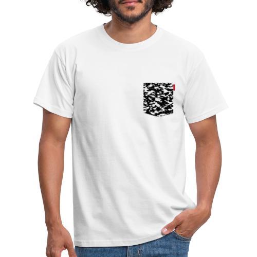 Black Snow Camo Patch - Men's T-Shirt