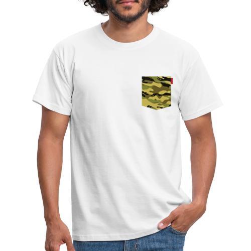 Green Yellow Camo Patch - Men's T-Shirt