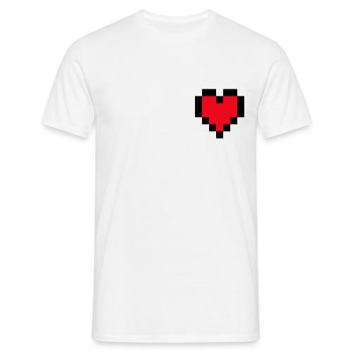Pixel Heart - Mannen T-shirt
