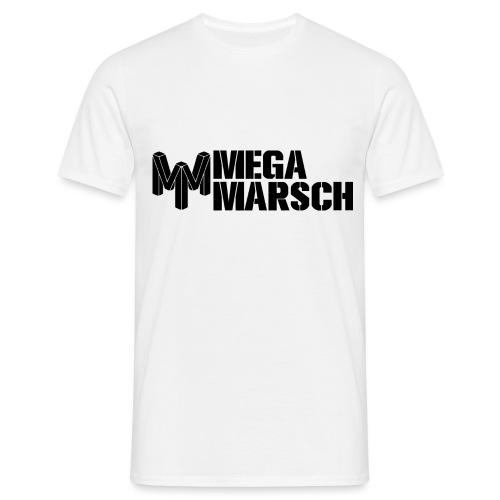 Megamarsch Logo (schwarz) - Männer T-Shirt