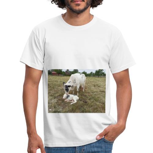 Kuh mit Kalb - Männer T-Shirt