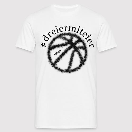 dreiermiteier schwarz - Männer T-Shirt