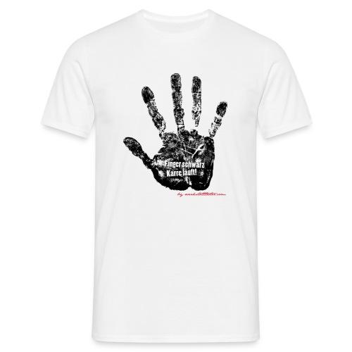 Finger schwarz Karre läuft 1 - Männer T-Shirt