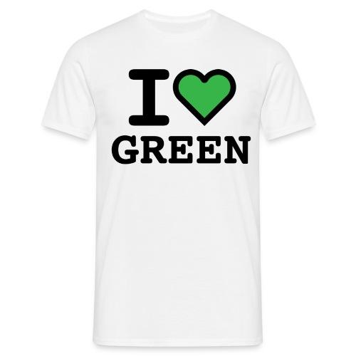 i-love-green-2.png - Maglietta da uomo
