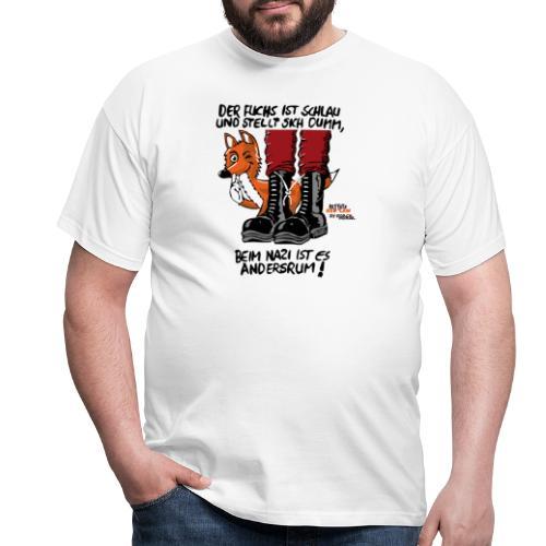fuchsschlau - Männer T-Shirt