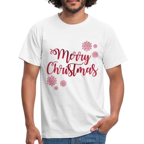 Merry christmas Noël New shape fane design vintage - T-shirt Homme