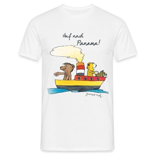 Janosch Tiger und Bären schippern nach Panama - Männer T-Shirt