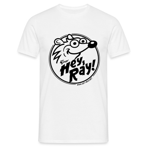Hey Ray Logo black - Männer T-Shirt