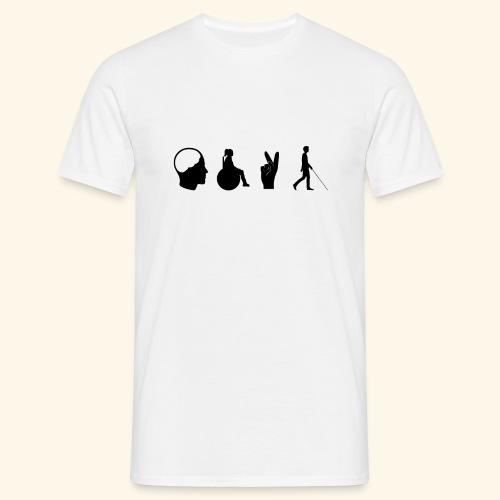 Menschen mit Behinderung - Männer T-Shirt