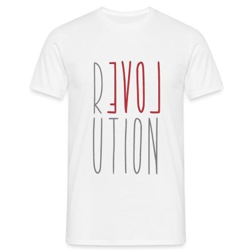 Love Peace Revolution - Liebe Frieden Statement - Männer T-Shirt