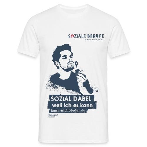 02 motiv mann mit spruch weiss png - Männer T-Shirt