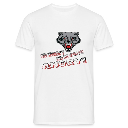Angry Wolf - Men's T-Shirt