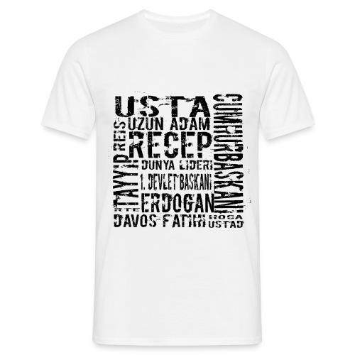 rtelakap_beyaz - Männer T-Shirt