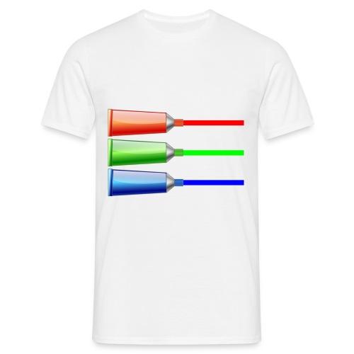 Farbtuben - Männer T-Shirt