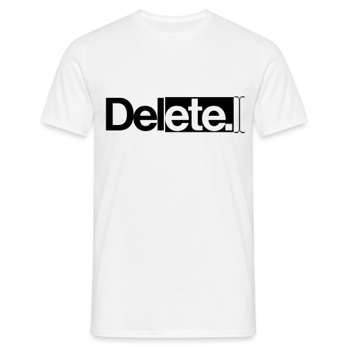 deleteblack png - Men's T-Shirt
