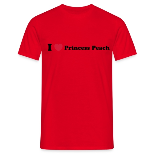 I love princess peach - Men's T-Shirt