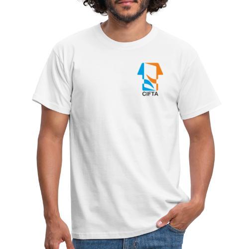 Logo CIFTA letra negro - Camiseta hombre