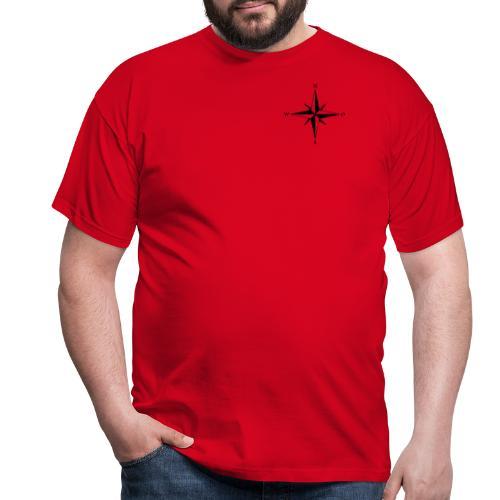 Kompas sort - Herre-T-shirt